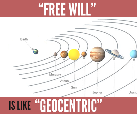 "redefining ""free will"" is like redefining ""geocentric"